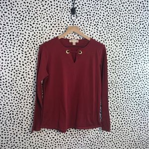 Michael Kors red blouse size large